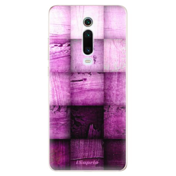 Odolné silikonové pouzdro iSaprio - Purple Squares - Xiaomi Mi 9T Pro