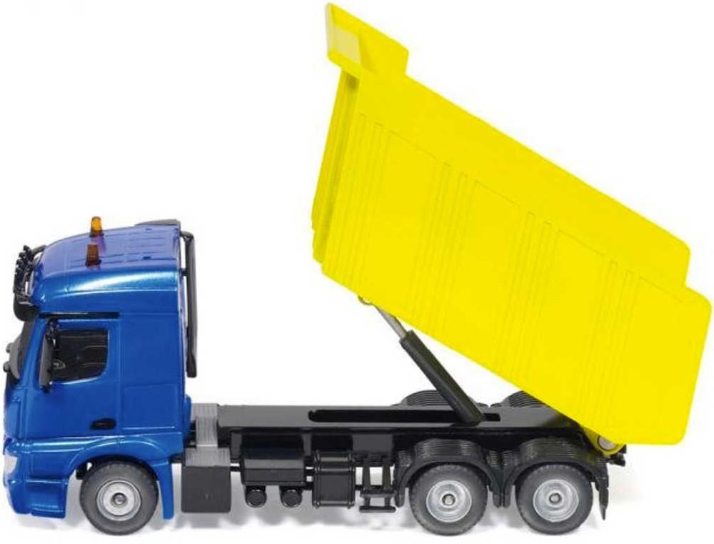 SIKU Auto nákladní žluto-modré Mercedes Benz Arocs 1:50 model kov 3549