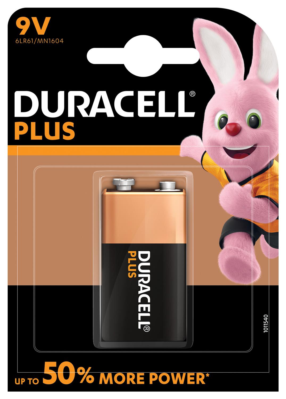 Duracell Plus baterie 6LR61/MN1604, 9V