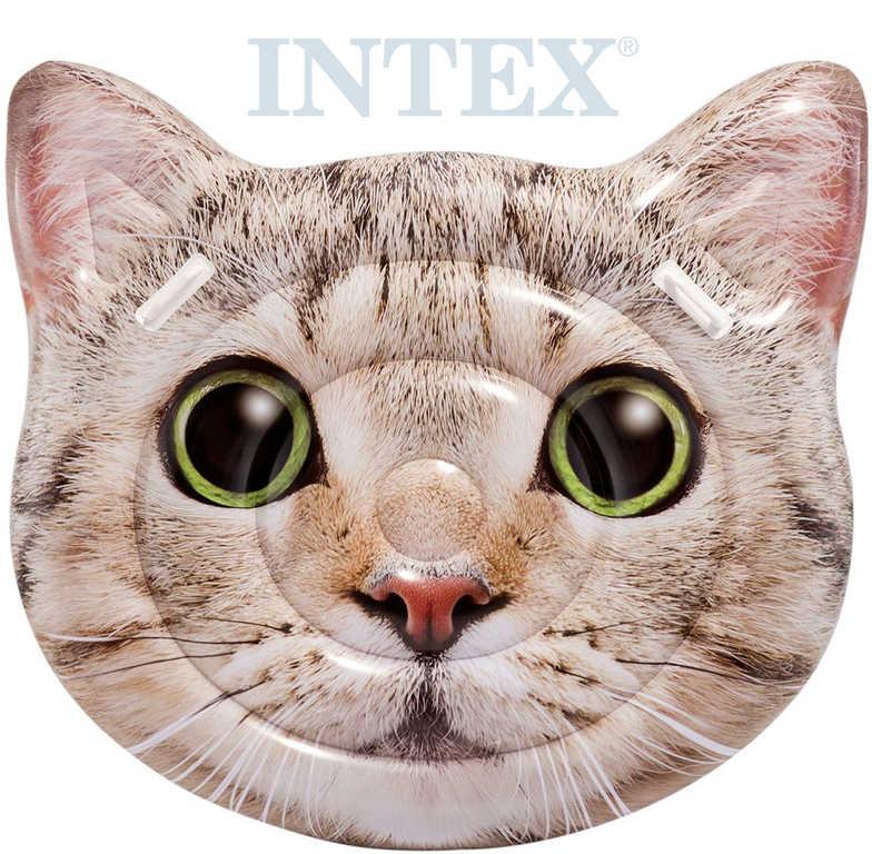INTEX Lehátko nafukovací Kočka 147x135cm matrace s úchyty na vodu 58784