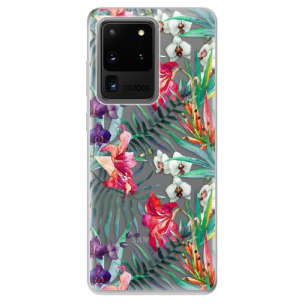 Odolné silikonové pouzdro iSaprio - Flower Pattern 03 - Samsung Galaxy S20 Ultra