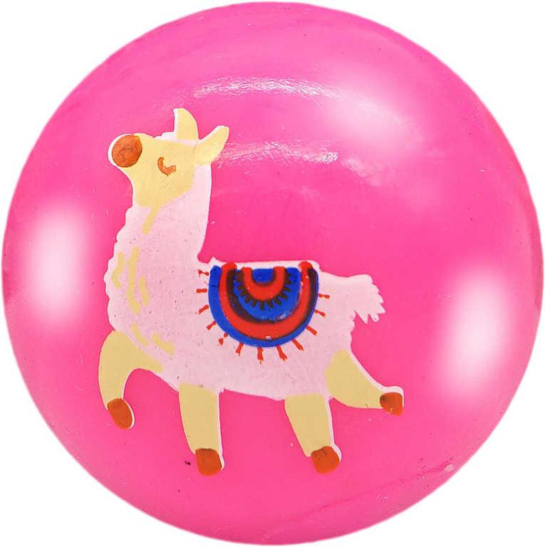 Míček svítící lama 5,5 cm balonek na baterie různé barvy Světlo