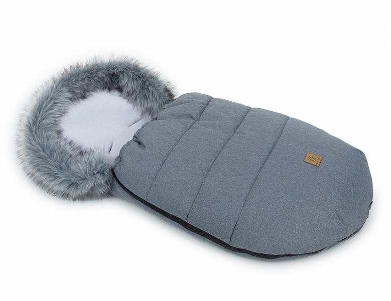 Mamo Tato Zimní fusak Lux s kožešinkou, 50 x 100cm - Grafit/šedý