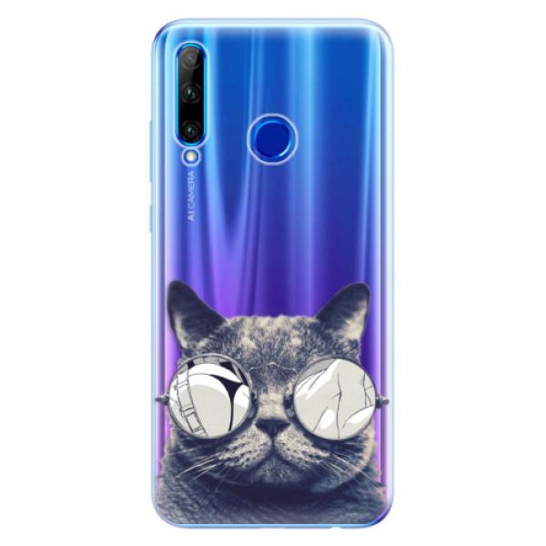 Odolné silikonové pouzdro iSaprio - Crazy Cat 01 - Huawei Honor 20 Lite