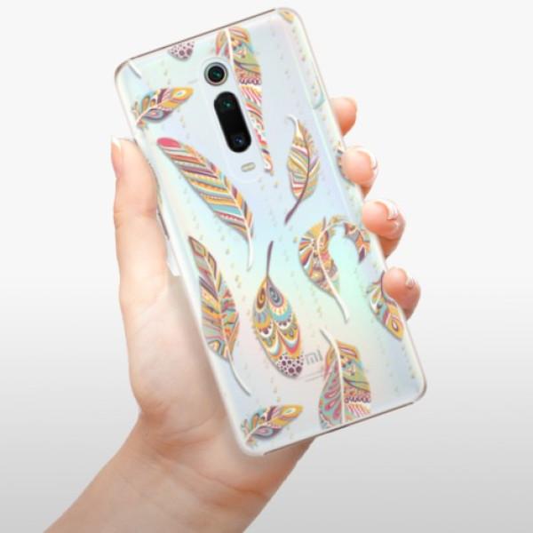 Plastové pouzdro iSaprio - Feather pattern 02 - Xiaomi Mi 9T Pro