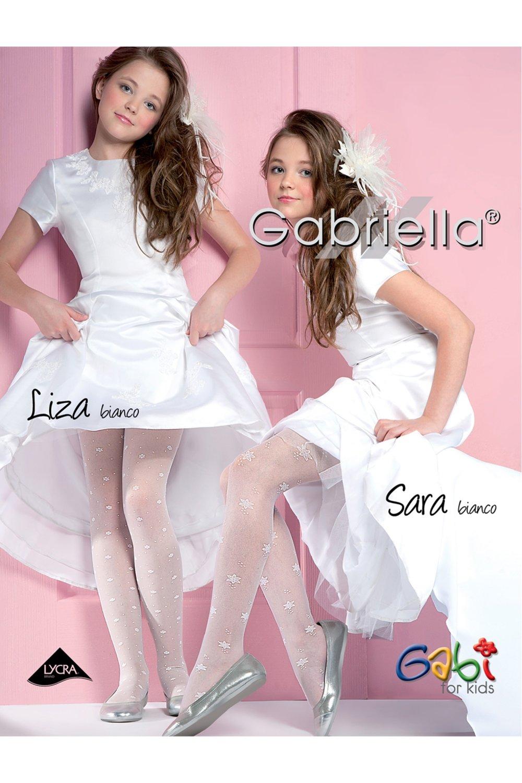 Dívčí punčochové kalhoty 758 Sara bianco - Bílá/1