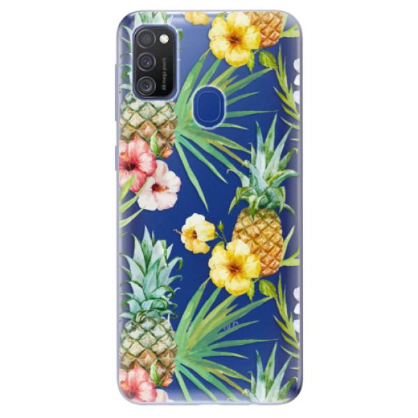 Odolné silikonové pouzdro iSaprio - Pineapple Pattern 02 - Samsung Galaxy M21