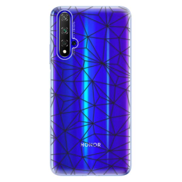 Odolné silikonové pouzdro iSaprio - Abstract Triangles 03 - black - Huawei Honor 20