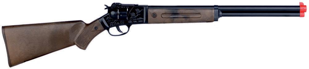 Dětská puška kapslovka kovbojská černá kovová 12 ran na kapsle
