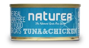 Naturea GF cat vlhké - Tuna, Chicken 80g