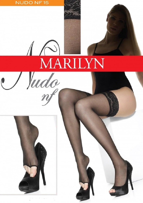 Samodržící punčochy s volnou špičkou NF 15 - Nudo nf Marilyn - Visone/1-2