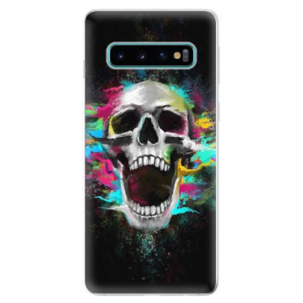 Odolné silikonové pouzdro iSaprio - Skull in Colors - Samsung Galaxy S10