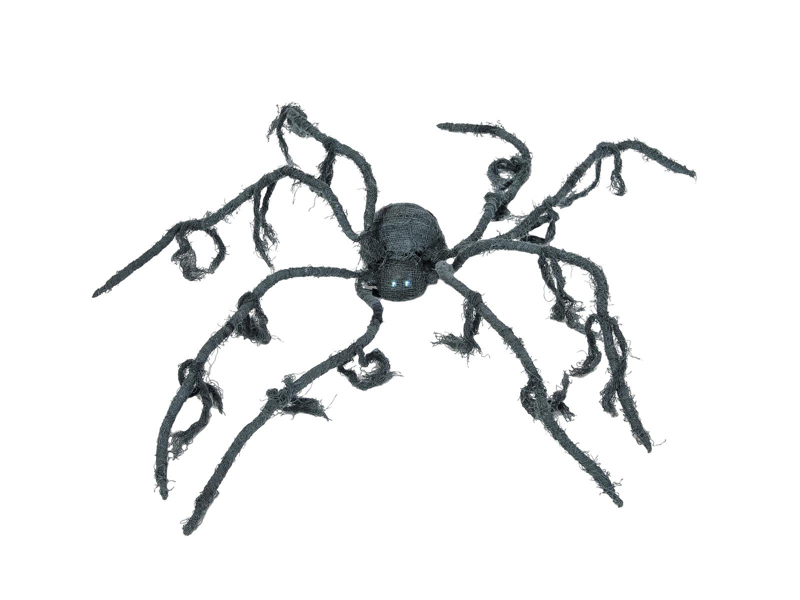 Halloween animovaný pavouk s LED očima, průměr 110 cm