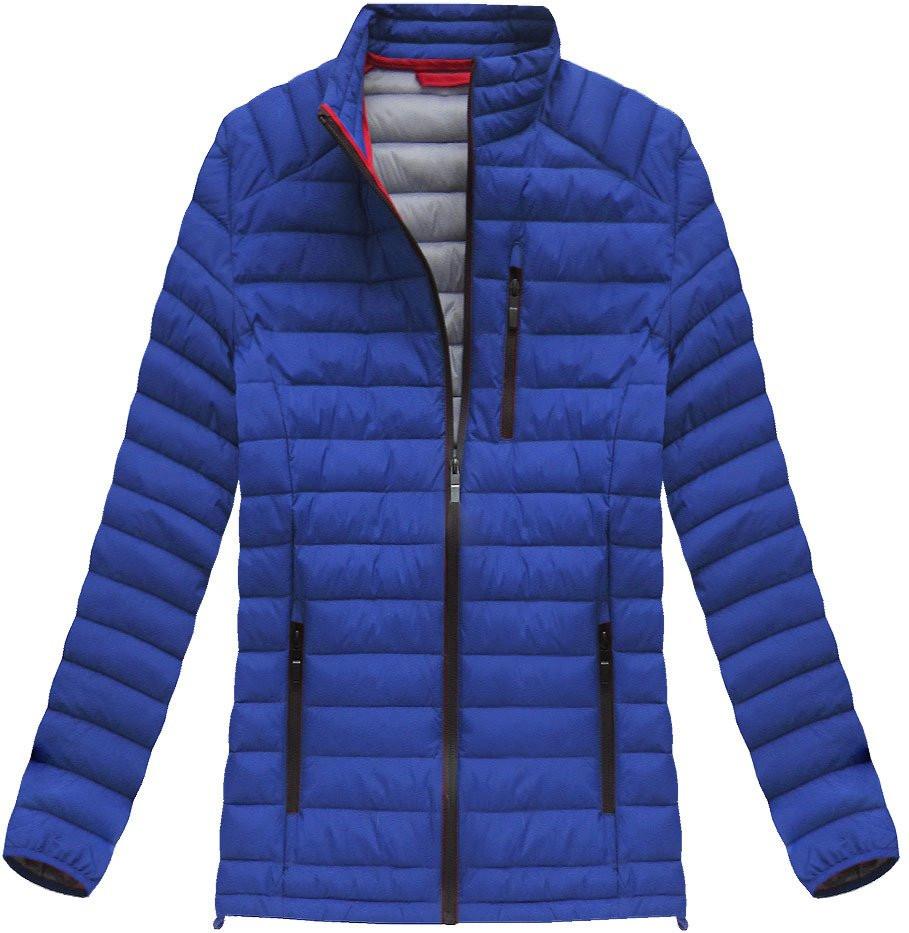 Modrofialová pánská prošívaná bunda (21871) - Modrá/M