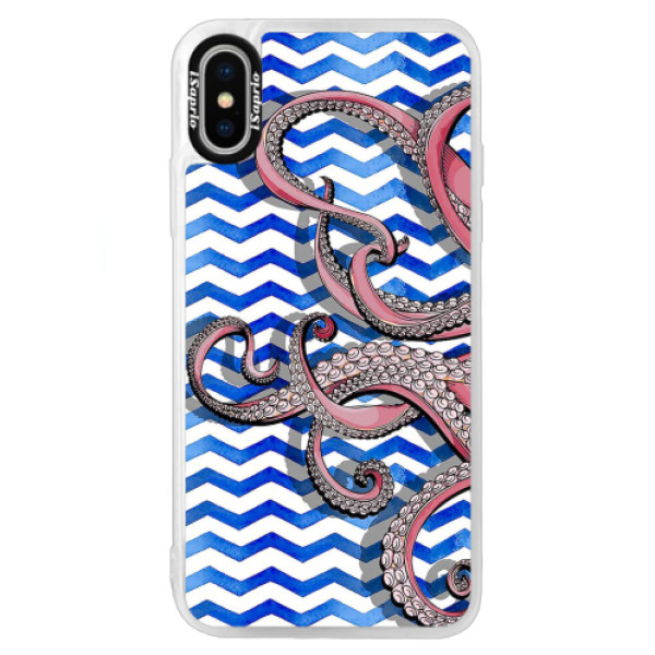 Neonové pouzdro Blue iSaprio - Octopus - iPhone XS