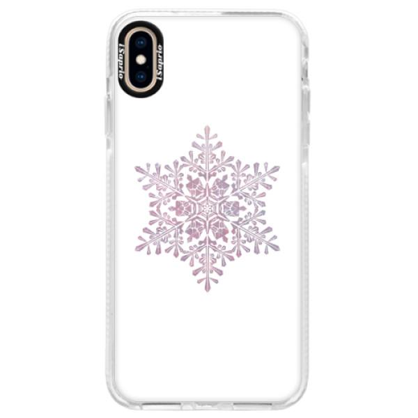 Silikonové pouzdro Bumper iSaprio - Snow Flake - iPhone XS Max