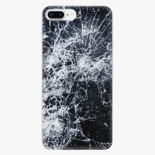Silikonové pouzdro iSaprio - Cracked - iPhone 8 Plus