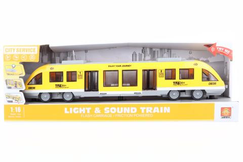 Vlak na baterie žlutý