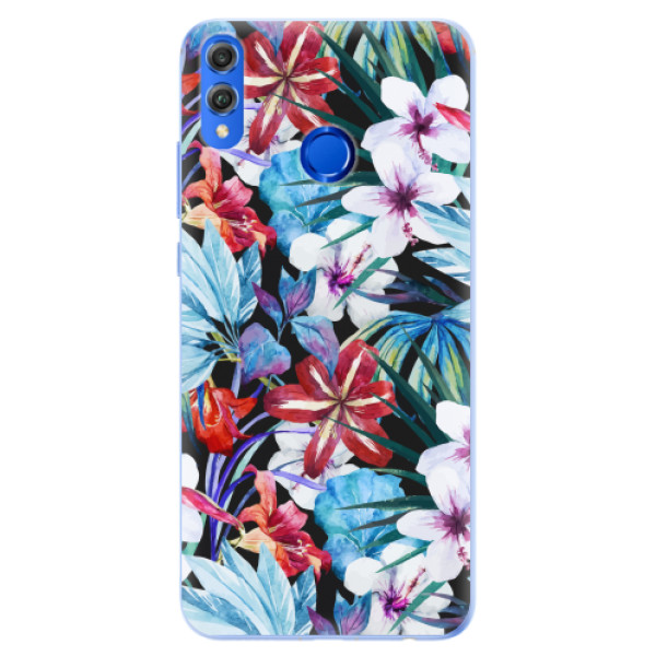 Silikonové pouzdro iSaprio - Tropical Flowers 05 - Huawei Honor 8X