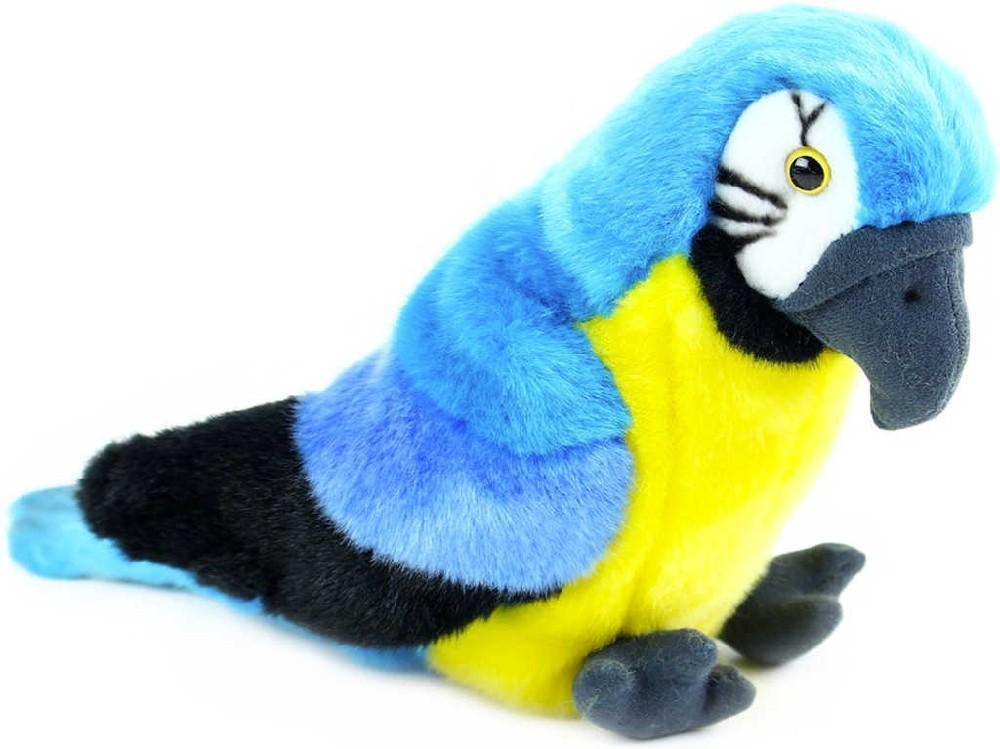 PLYŠ Papoušek ara 25 cm pták sedící