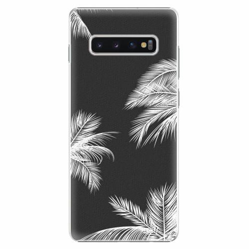 Plastový kryt iSaprio - White Palm - Samsung Galaxy S10+