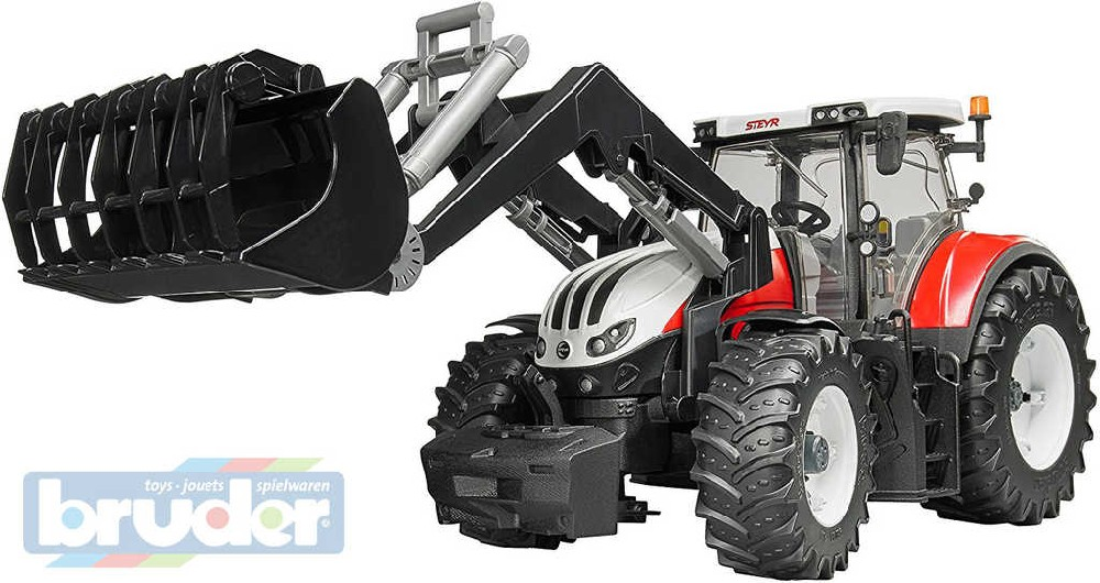 BRUDER 03181 (3181) Traktor STEYR 6300 Terrus čelní nakladač funkční model plast