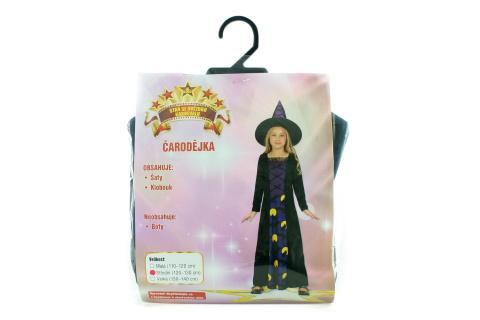 Šaty - Čarodějka, 120 - 130 cm