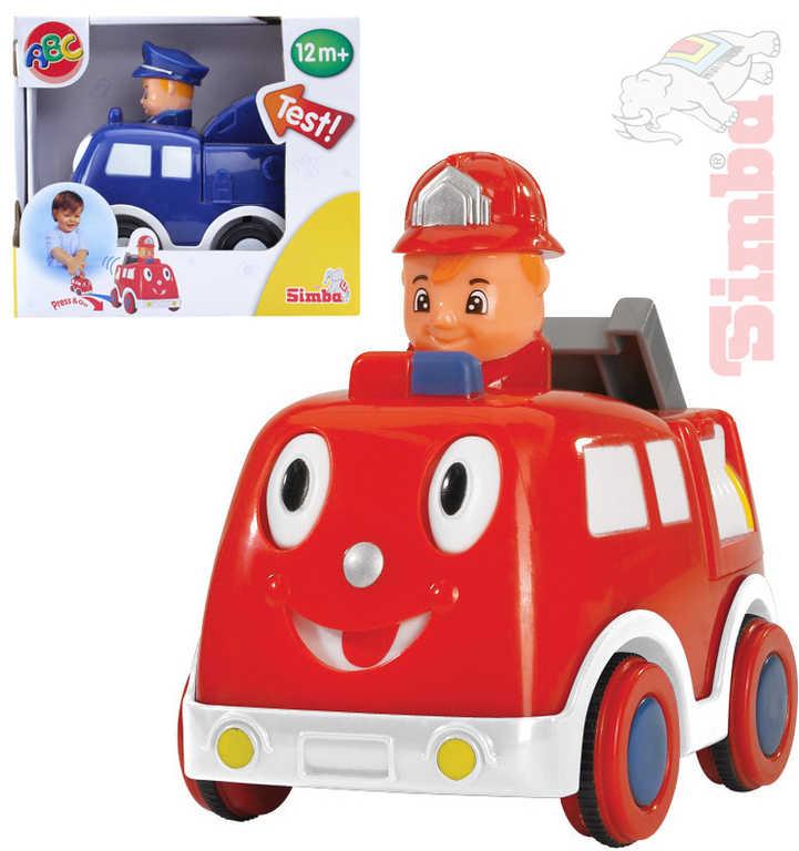 """SIMBA Auto veselé s obličejem """"zmáčkni a jeď"""" s řidičem - 2 druhy"""