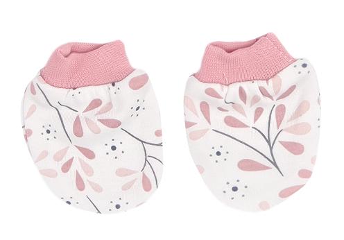 Mamatti Kojenecké rukavičky Tokio - růžová, bílá