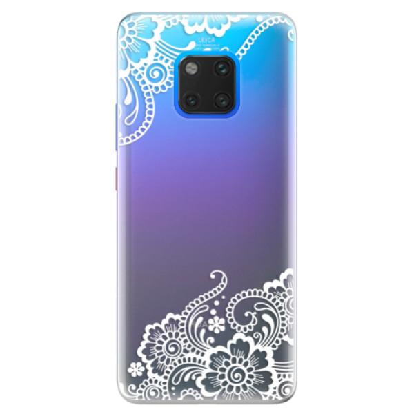 Silikonové pouzdro iSaprio - White Lace 02 - Huawei Mate 20 Pro