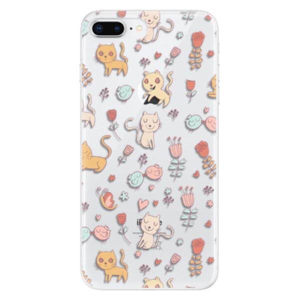 Odolné silikonové pouzdro iSaprio - Cat pattern 02 - iPhone 8 Plus