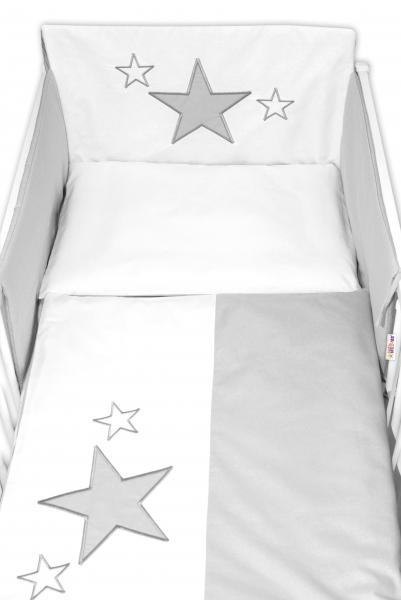 baby-nellys-mantinel-s-povlecenim-baby-stars-sedy-vel-135x100-cm-135x100