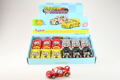 Kinsmart Turbo racers 12/bal