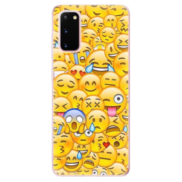Odolné silikonové pouzdro iSaprio - Emoji - Samsung Galaxy S20