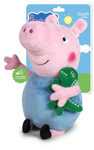 PLYŠ Prasátko Peppa Pig Tom 27cm na baterie Zvuk *PLYŠOVÉ HRAČKY*