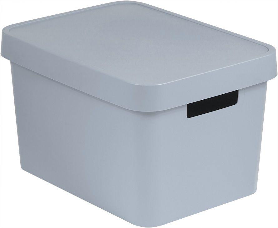 Úložný box plastový s víkem 17L - šedý CURVER