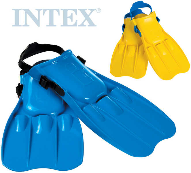 INTEX Ploutve potápěčské do vody vel. L (EU 41-45) 2 barvy 26-29cm plast