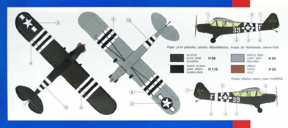 SMĚR Model letadlo Piper L4 Cub 1:48 (stavebnice letadla)