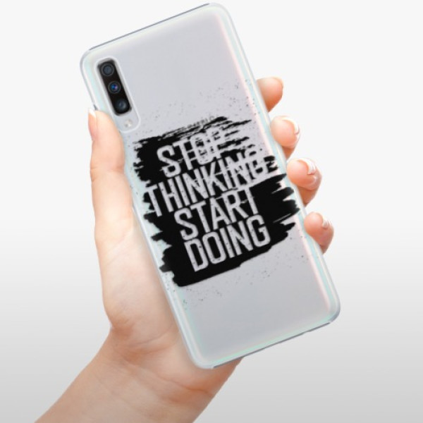 Plastové pouzdro iSaprio - Start Doing - black - Samsung Galaxy A70