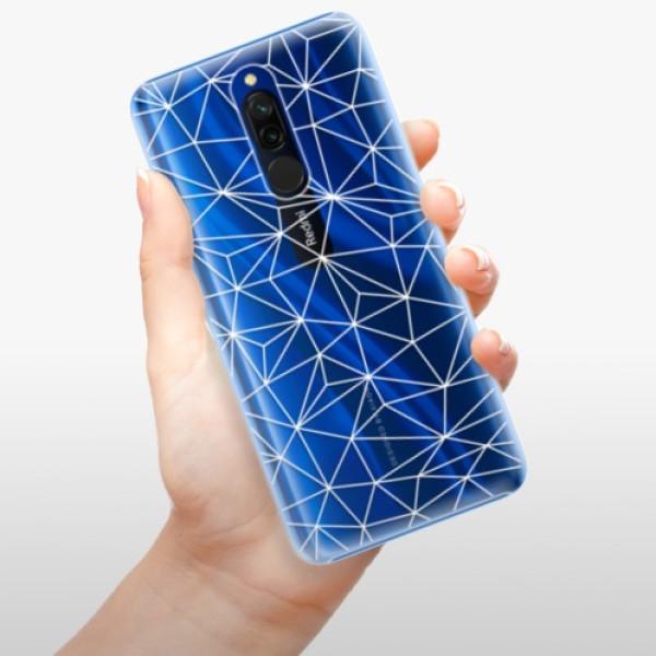 Plastové pouzdro iSaprio - Abstract Triangles 03 - white - Xiaomi Redmi 8