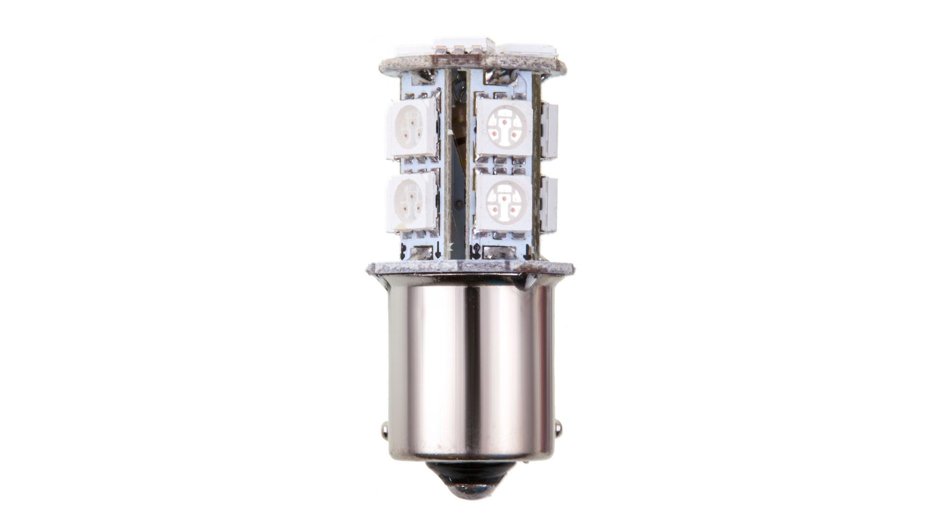 4CARS LED žárovka 13LED 12V S25-5050SMD BA15S červená