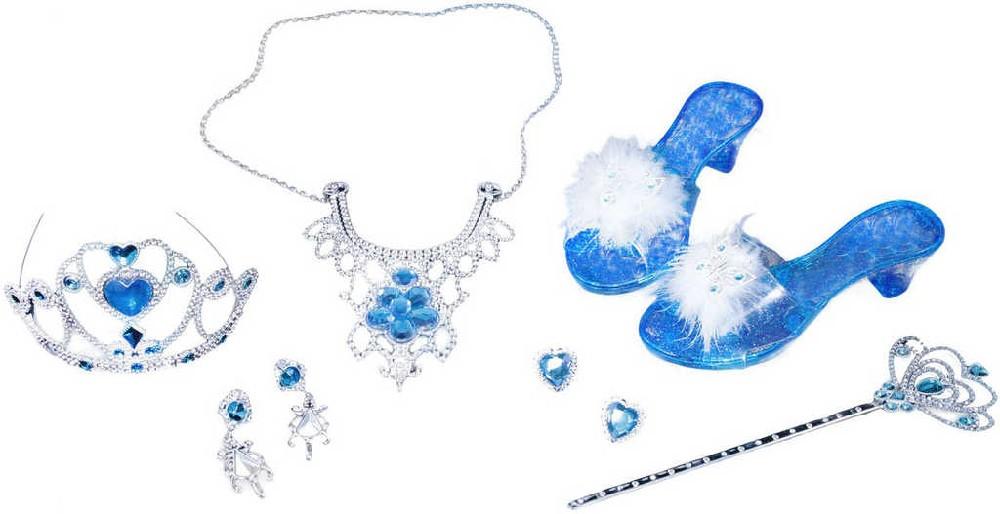 KARNEVAL Zimní set pro princezny se střevíčky korunkou šperky a doplňky