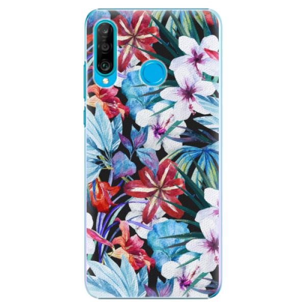 Plastové pouzdro iSaprio - Tropical Flowers 05 - Huawei P30 Lite