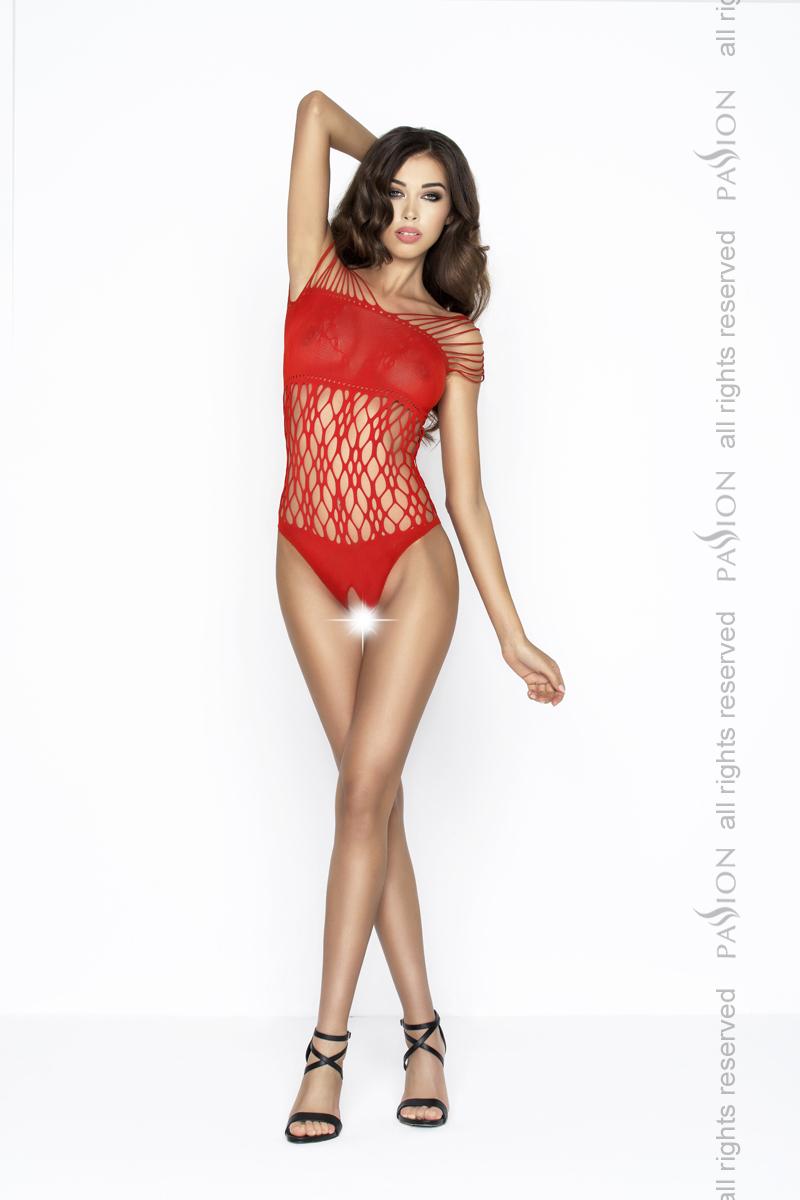 Červené erotické šaty Passion - BS035-univerzální