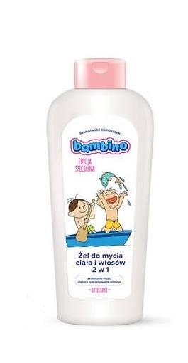 Dětský mycí gel BAMBINO na tělo i vlásky - Bolek a Lolek, 400ml