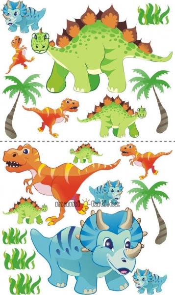Nálepky, dekorace na stěnu 70x100 cm - Dino