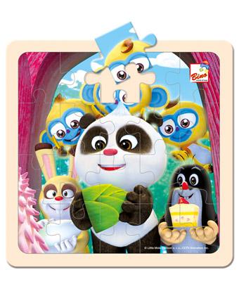 Krtek a Panda - oslava, puzzle 20 dílků