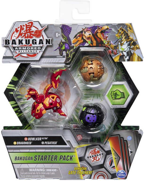 Bakugan startovací set drak s přeměnou 3ks s destičkou a doplňky různé druhy