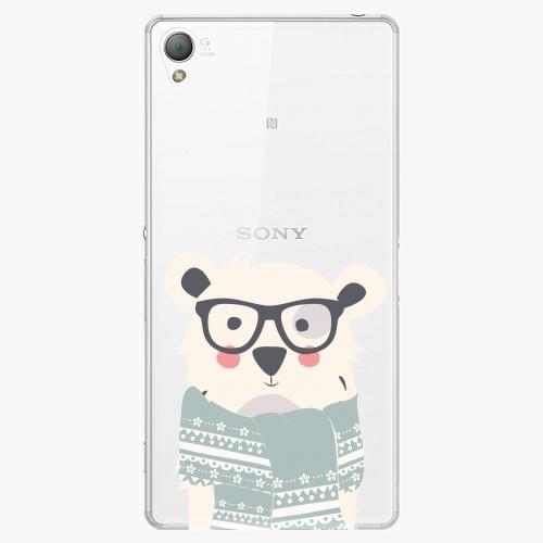 Plastový kryt iSaprio - Bear With Scarf - Sony Xperia Z3