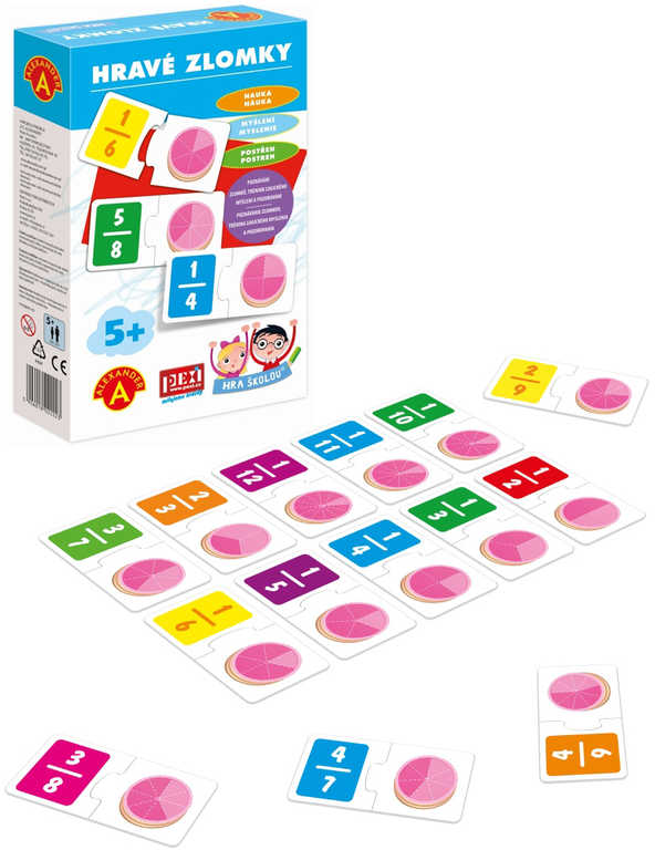 ALEXANDER Hra školou Hravé zlomky naučná hra v krabici